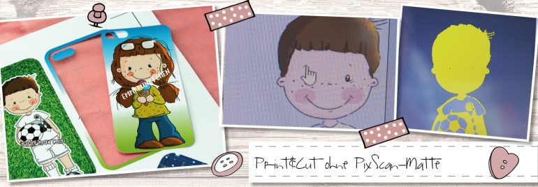 Print&Cut ohne PixScan-Matte