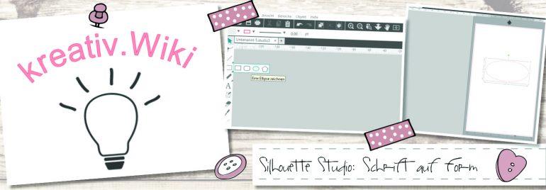 Silhouette Studio: Schrift auf Form