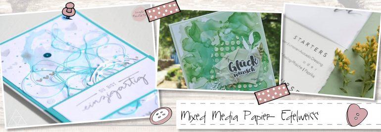 Mixed Media Papier Edelweiss