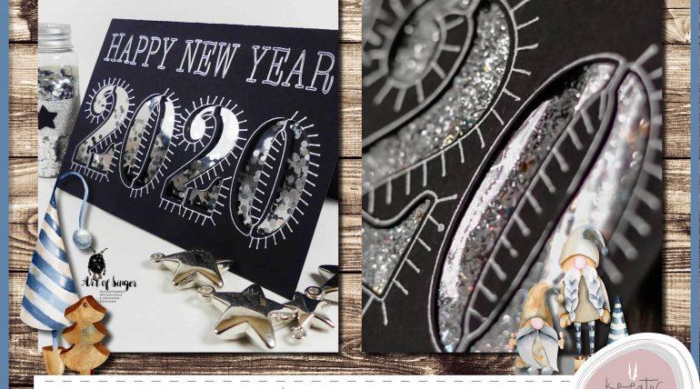 Happy New Year Karte