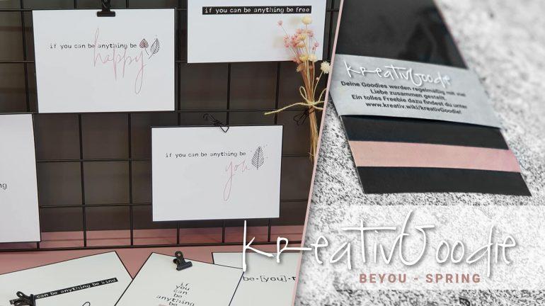 kreativGoodie – beYOU spring